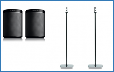 Sonos Bundle Play:1 + Flexson Standfüße